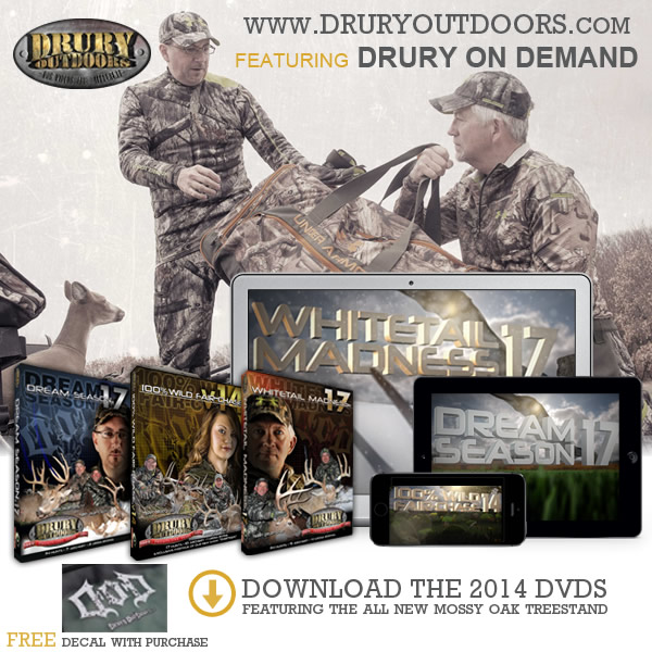 Our good friends from Drury Outdoors have introduced DRURY ON DEMAND, giving you access to all your favorite Drury Outdoors TV shows and DVDs from over the years.